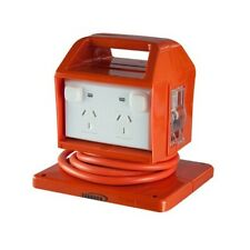 Portable Power Board IP53 4 Way 15 Amp Outlet MCB/RCD WHS Approved