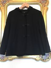 ZARA Black VICTORIAN Style Hooded JACKET Size M Fully Lined