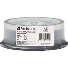 M DISC VERBATIM BDXL 100GB 4X White Inkjet Printable 25 pk Spindle 98915