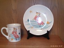 Pembroke Welsh Corgi Mug And Matching Plate Cute Corgi Summer Scene