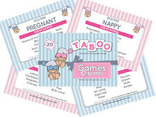 Taboo Banned Words Baby Shower Party Game Boy Girl Unisex Classy Don't Say It