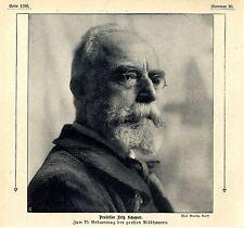 70. compleanno del scultore prof. Fritz Schaper dal prof. Ludwig Manzel v.1911