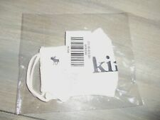 "NWT ABERCROMBIE KIDS WHITE LOGO ""KINDNESS"" COTTON FACE MASK"