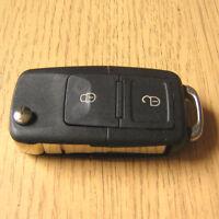 Replacement 2 Button Remote Flip Key FOB Case VW Golf mk4 Bora Polo Passat