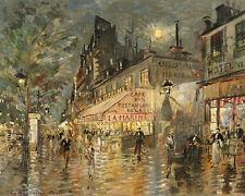 Cafe La Marine Konstantin Alexeevich  Korovin Street Scene  24'  CANVAS