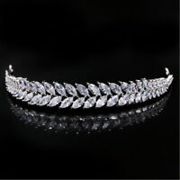 Full AAAAA CZ Cubic Zirconia Wedding Bridal Party Pageant Prom Tiara 11cm Wide