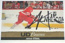 JORDAN STAAL SIGNED 13-14 UPPER DECK CANVAS HURRICANES CARD AUTOGRAPH AUTO!!