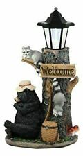 Ebros Summer Naps Whimsical Forest Lazy Bear With Raccoon Friends Welcome Sign