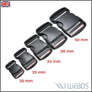 SIDE RELEASE BUCKLE 20mm 25mm 32mm 38mm 50mm WEBBING STRAP Backpack, Luggage bag