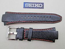 Genuine Seiko Sportura SNA481 SNJ007 black & orange watch band 15mm lug 4KG1ZZ