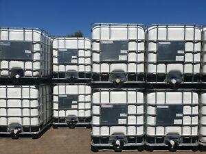 IBC CONTAINER TANK REGENWASSERTANK 1000 Liter Weiß durchgefärbt REKONDITIONIERT.