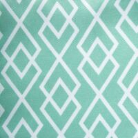 "Outdoor TABLE RUNNER tablecloth Light GREEN w/ DIAMOND Print 14"" x 72"""