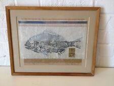 Vtg Toni Carner California Artist Asian Influenced Print Tai 2 Sun Bream Fish