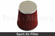 Air Filter Induction Kit Sport Mesh Cone Chrome Finish Universal 77 mm Red