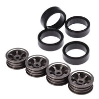 4Pcs Wheel Tires W/ Wheel Rims For WLtoys K969 P929 Crawler Car Spare Parts