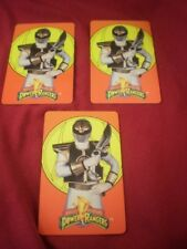 LOT of 3 Mighty Morphin Power Rangers ID Card license plastic personal info card