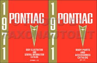 Pontiac Master Body Parts Book 1971 1970 1969 1968 1967 1966 Illustrated Catalog