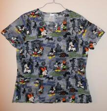 Disney Mickey Mouse Halloween Large Medical Scrub Uniform Top