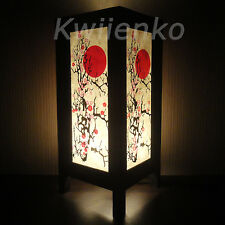 Asian Oriental Japanese Cherry Blossom Tree Art Bedside Desk Table Lamp Shades