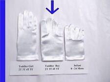 Toddler BOYs Formal 2T 3T 4T White Stretch Satin Gloves Easter Wrist Length NEW