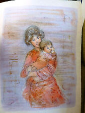 Edna Hibel -KRISTINA & CHILD - VERY RARE-Hand Signed & Numbered Limited Edition