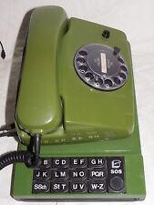 ALTES GRÜNES TELEFON ORIGINAL POST MIT WÄHLSCHEIBE + ARLAC REGISTER KULT