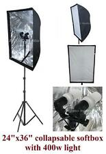 400w Photography Studio Continuous Softbox Lighting Lite Stand Diffuser Kit