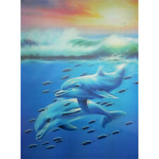 Dolphins & Sea Lenticular 3D Picture Poster Painting Home Decor Wall Art Decor