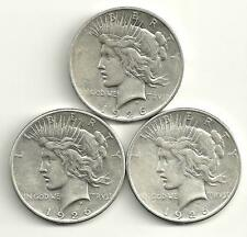 3 Coin Lot__Peace Silver Dollars__1926-D_1926-S___#1220LB29