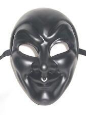 Flat Matte Black Joker Venetian Mardi Gras Masquerade Mask Prom Carnival Masks