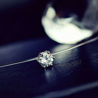 Clavicle Chain Fashion Invisible Line Crystal Necklace Zircon Simple