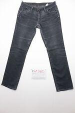 G-star corvet straight nero  (Cod.F1360) Tg.46 W32 L32  jeans usato accorciato