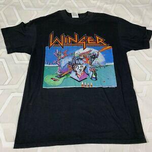 Vintage 1988 Winger Shirt Adult Large Too Tuff To Tame Tour Black Single Stitch