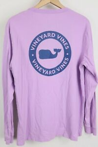 Vineyard Vines Mens sz Large Lavender Long Sleeve Graphic Pocket T Shirt