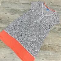 Simply Vera Vera Wang Womens T-Shirt Dress  Short Sleeve Animal Print/Red XS