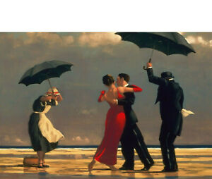 "JACK VETTRIANO SINGING BUTLER CANVAS WALL ART ""20x30"" inches FRAMED"