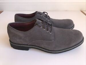 Men's Timberland Stormbuck Waterproof Oxford Shoes Size 10.5 New Gray Grey Suede