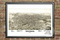 Old Map of Greensburg, PA from 1901 - Vintage Pennsylvania Art, Historic Decor