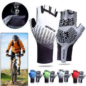 Half Finger Cycling Gloves Bike Shockproof Bicycle Breathable Gel Padded Gloves
