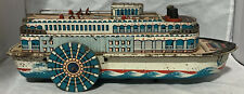 Queen River Modern Toys Japan Tin Metal Boat Battery Op Toy for Repair Restore +