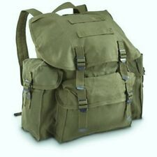 Old School Style Canvas 100% Cotton BackPack With Adj.Shoulder Straps O.D.- USED
