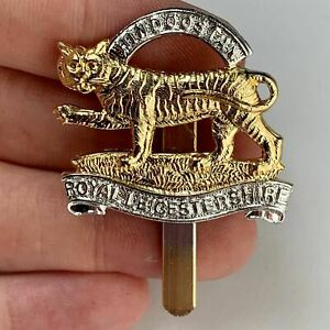 Staybright Royal Leicestershire Regiment Staybrite Anodised Cap Badge - WV48