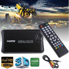 Full 1080p HD Media Player Audio Video HDMI/AV Output SD Card USB SATA/IDE Input
