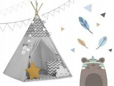 Namiot tipi z girlandą i światełkami - szare 740001