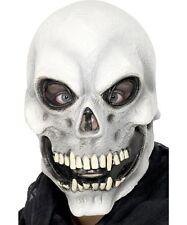 Evil Mens Skull Mask Halloween Skeleton Grim Reaper Fancy Dress Accessory