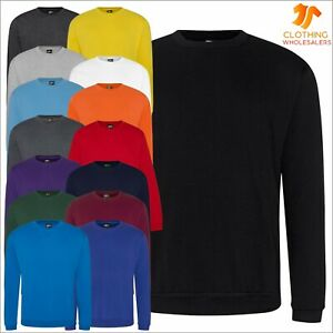 Pro Rtx Mens Classic Sweatshirt Thick Plain Pullover Jumper Workwear Casual TOP