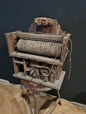 Alte Walzenspieluhr Uhr mit Spielwerk Orgelpfeifen Spieluhr Gewichtsregulator
