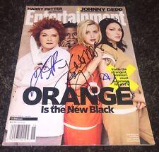 Orange is the new black signed Taylor Schilling Laura Prepon Kate Mulgrew Uzo A