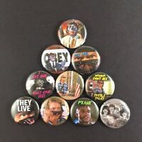 "They Live 1"" Button Pin Lot John Carpenter Rowdy Roddy Piper Horror Cult Classic"