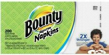 Bounty Quilted Paper Napkins, White - 200 Count